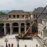 动真格了!嵊州这幢违建的超豪华别墅终于被拆除了..