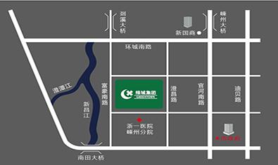绿城·剡江越园交通图