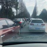 黄泽前良路口交通严重堵塞