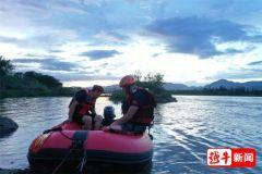 黄泽一村民河中摸黄蚬时失踪,当地组织搜救