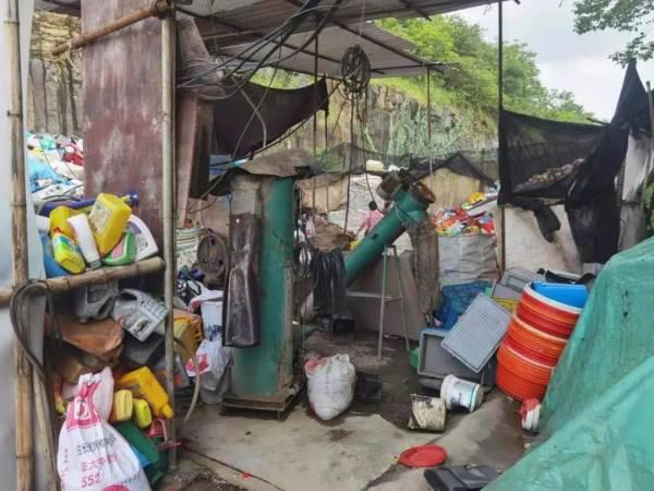 嵊州某加工点非法加工危险废物20余吨